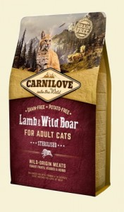 CARNILOVE CAT LAMB&WILD BOAR STERILISED 6kg