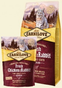 CARNILOVE CAT FRESH CHICKEN & RABBIT GOURMAND FOR ADULT 6kg