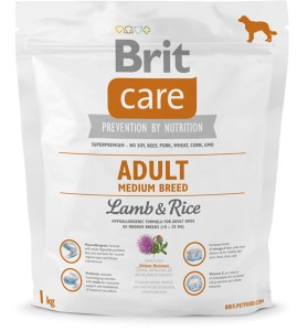 Karma - BRIT CARE ADULT MEDIUM BREED LAMB & RICE 1 kg
